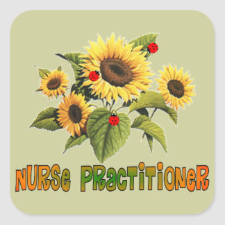 Nurse Practitioner Sunflower Design Gifts Square Sticker