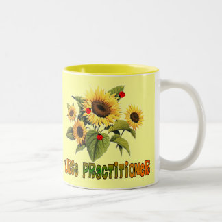 Nurse Practitioner Sunflower Design Gifts Two-Tone Coffee Mug