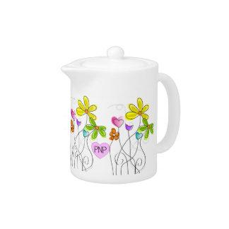 Nurse Practitioner Teapot Floral