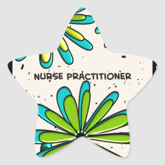 Nurse Practitioner Whimsical Flowers II Star Sticker