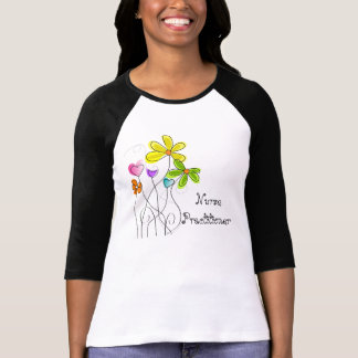 Nurse Practitioner Whimsical Flowers T-Shirts