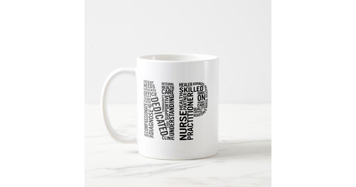 Nurse Practitioner Word Art Np Coffee Mug Zazzle Com