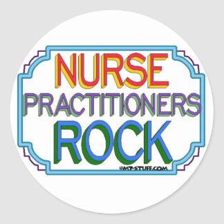Nurse Practitioners Rock Classic Round Sticker
