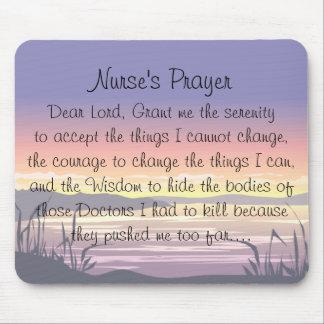 Nurse Prayer Mouse Pad