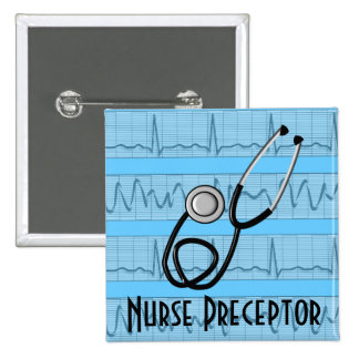 Nurse Preceptor Buttons Black Stethoscope