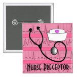 Nurse Preceptor Buttons Cardiac Rhythm Design