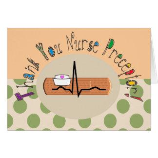 Nurse Preceptor Thank You Card Polka Dots