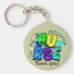 "Nurse Preceptor ""Thank  You"" Gifts Basic Round Button Keychain"