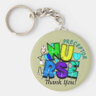 """Nurse Preceptor """"Thank  You"""" Gifts Keychain"""