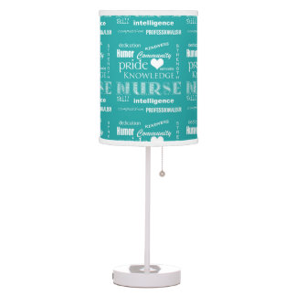 Nurse Pride-Attributes/Aqua Blue Table Lamp