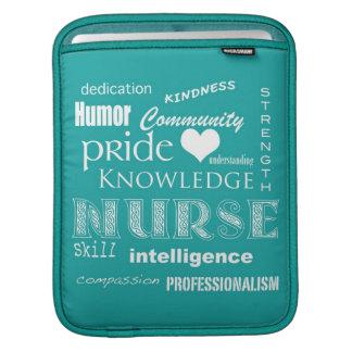 Nurse Pride-Attributes/Aquamarine iPad Sleeve