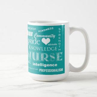 Nurse Pride-Attributes/Blue-Green Coffee Mug