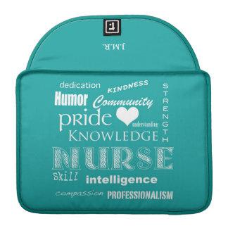 Nurse Pride-Attributes/Blue-Green Sleeve For MacBook Pro