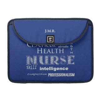 "Nurse Pride-Attributes/Blueberry-13"" MacBook Pro Sleeve"