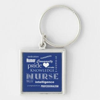 Nurse Pride-Attributes/Blueberry Keychain
