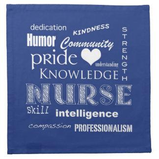 Nurse Pride-Attributes/Blueberry Printed Napkins