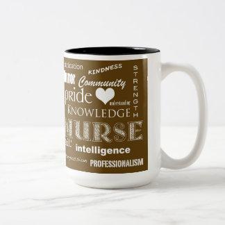 Nurse Pride-Attributes/Brown Two-Tone Coffee Mug