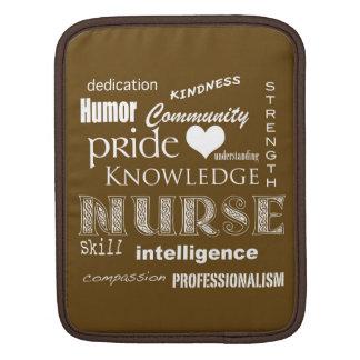 Nurse Pride-Attributes Chocolate Brown iPad Sleeve