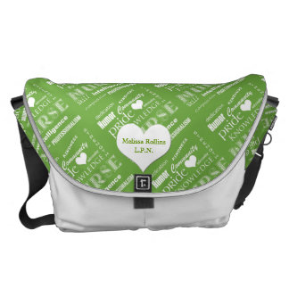 Nurse Pride-Attributes-Green+Heart/Personalize Courier Bag