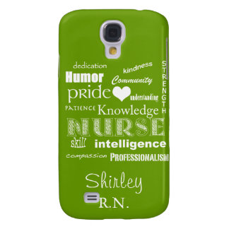 Nurse Pride Attributes+Heart /Celery Green Galaxy S4 Cover