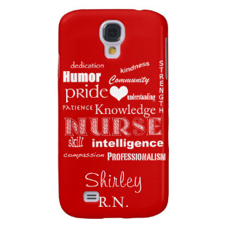 Nurse Pride Attributes+Heart /Fire Engine Red Galaxy S4 Cover