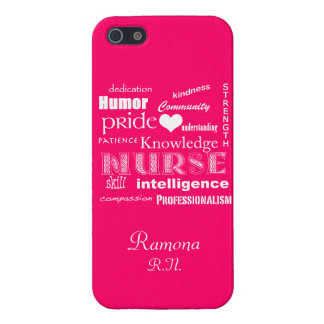 Nurse Pride Attributes+Heart/Hot Pink Cover For iPhone SE/5/5s