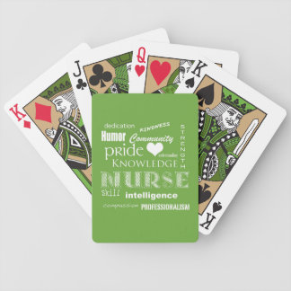 Nurse Pride-Attributes/Lime Green Bicycle Playing Cards