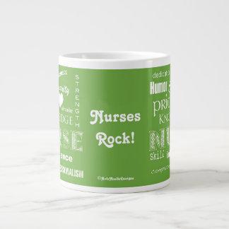 Nurse Pride-Attributes/Lime Green Giant Coffee Mug
