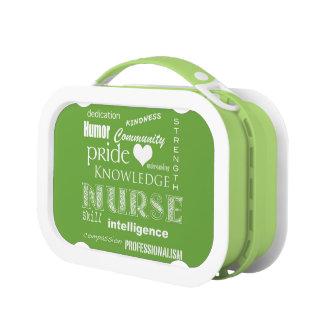 Nurse Pride-Attributes/Lime Green Lunch Box