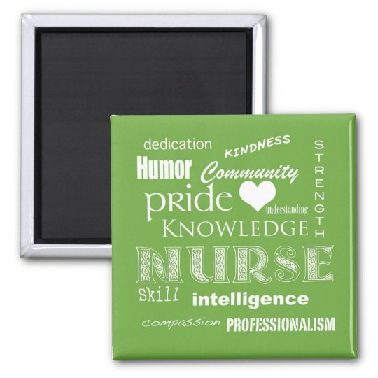 Nurse Pride Attributes-Lime Green Magnet