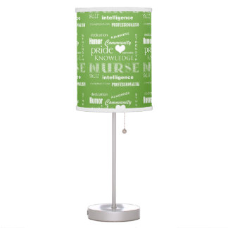 Nurse Pride-Attributes/Lime Green Table Lamp