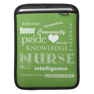 Nurse Pride-Attributes Lime Sleeve For iPads