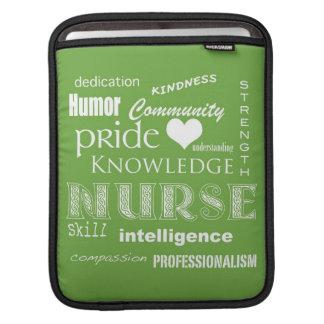 Nurse Pride-Attributes/Lime iPad Sleeves
