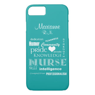 Nurse Pride-Attributes+Name /Aqua iPhone 7 Case