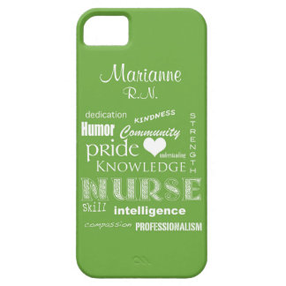 Nurse Pride-Attributes+Name /Green Mist iPhone 5 Covers