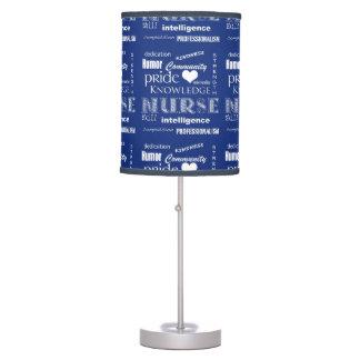 Nurse Pride-Attributes/Navy Blue Table Lamp