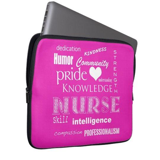 Nurse Pride-Attributes/Pink-13 inch Laptop Sleeve