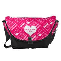 Nurse Pride Attributes/Pink-Personalize Name Messenger Bag