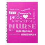 Nurse Pride-Attributes/Pink Spiral Note Book
