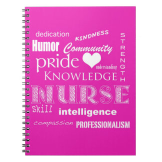 Nurse Pride-Attributes/Pink Spiral Notebook