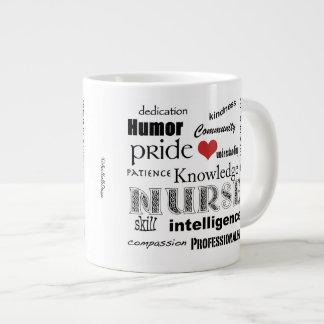 Nurse Pride-Attributes+red heart Giant Coffee Mug