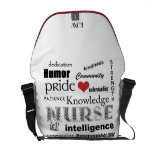 Nurse Pride-Attributes/Red Heart+Initials Courier Bags