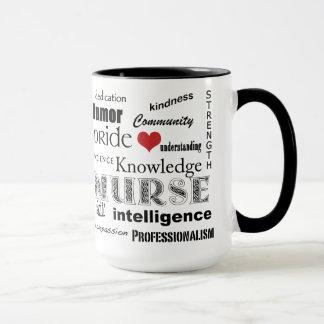 Nurse Pride-Attributes+Red Heart Mug