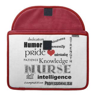 "Nurse Pride-Attributes/Red+White/13"" MacBook Pro Sleeve"