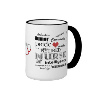 Nurse Pride-Attributes/RETIRED+Stethoscope Ringer Coffee Mug