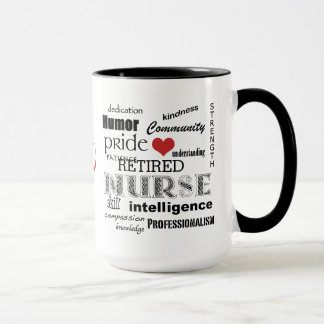 Nurse Pride-Attributes/RETIRED+Stethoscope Ringer Mug