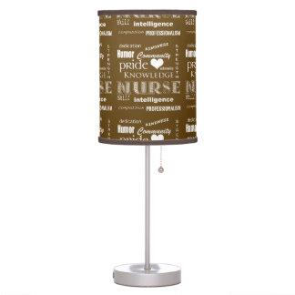 Nurse Pride-Attributes/Rich Brown Desk Lamp