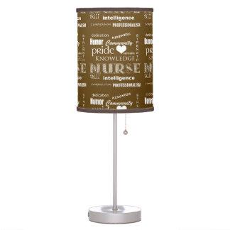 Nurse Pride-Attributes/Rich Brown Table Lamp
