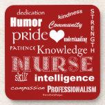 Nurse Pride-Attributes/Rich Red Coaster