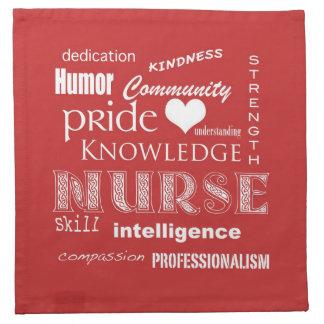 Nurse Pride-Attributes/Tomato Printed Napkin